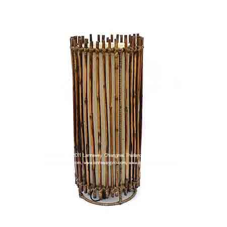 โคมไฟตั้งโต๊ะ กระบอกไม้ไผ่ทรงสูง