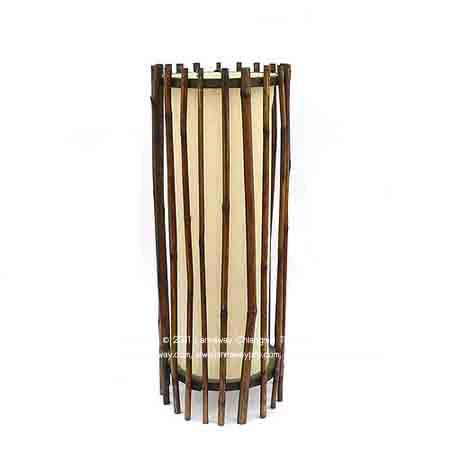 โคมไฟตั้งโต๊ะ กระบอกไม้ไผ่