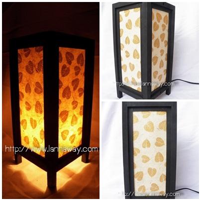 โคมไฟตั้งโต๊ะ โคมไฟกระดาษสาพับได้ TLM007