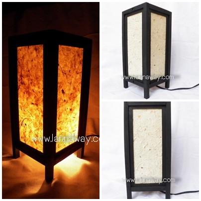 โคมไฟตั้งโต๊ะ โคมไฟกระดาษสาพับได้ TLM012