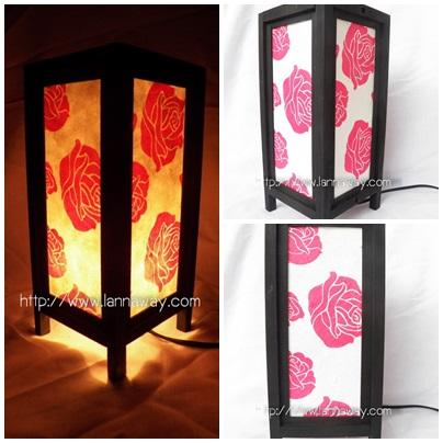 โคมไฟตั้งโต๊ะ โคมไฟกระดาษสาพับได้ TLM014