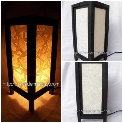 โคมไฟตั้งโต๊ะ โคมไฟกระดาษสาพับได้ TLM015