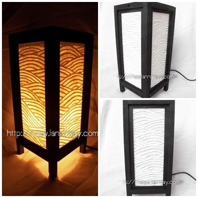 โคมไฟตั้งโต๊ะ โคมไฟกระดาษสาพับได้ TLM016