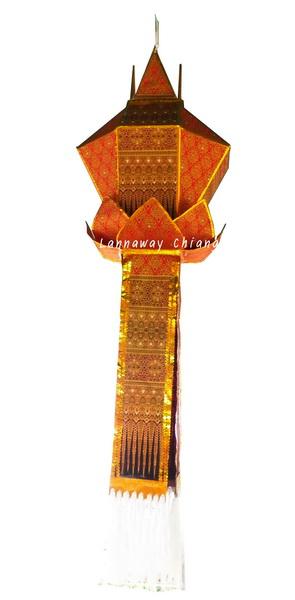 โคมบัวเพชรลายไทยหางประยุกต์