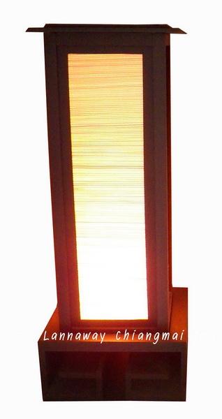 โคมไฟตั้งโต๊ะมู่ลี่ ฐานจีน (พับได้)